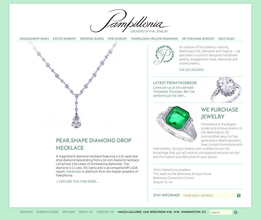 Pamillonia Jewelers website