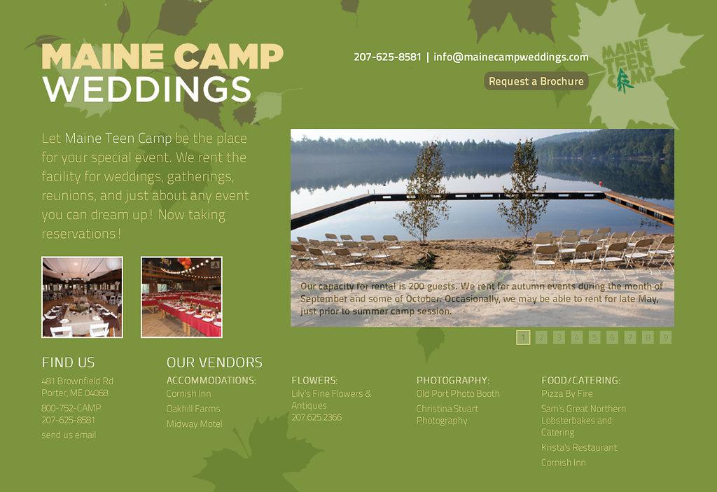 Maine Camp Wedding website